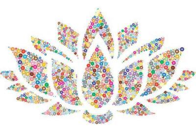 Lotus Flower colorful
